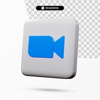 分離された3dレンダリングズームロゴアプリケーション