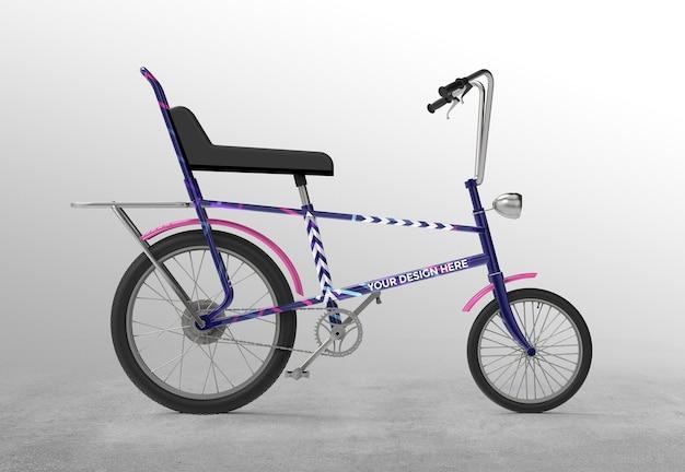 3dレトロ自転車モックアップデザイン