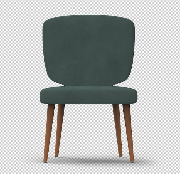 3d retro chair isolated