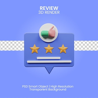 3d review illustration isolated