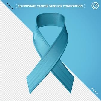 3d ribbon blue for prostate cancer awareness