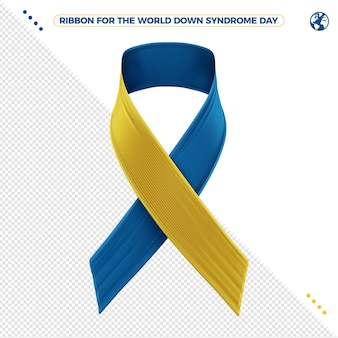 3d ribbon of world down syndrome day