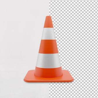 3d дорожные строительные конусы с оранжевым цветом