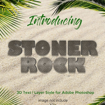 3d rock stone earth photoshop layer style text effects