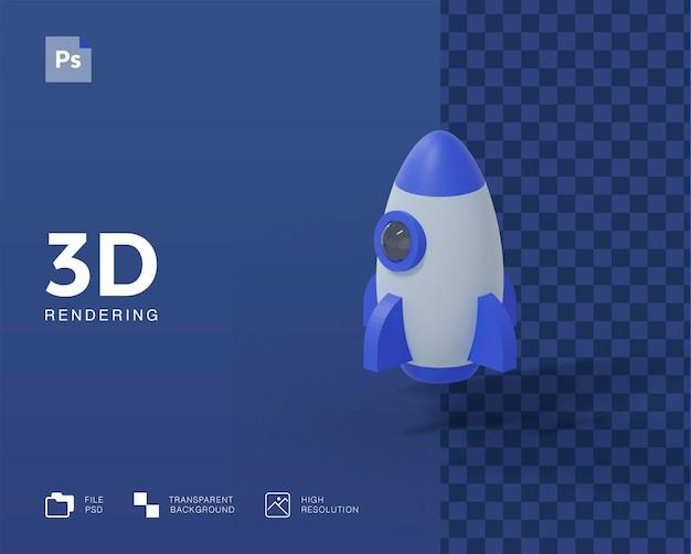 3d иллюстрации ракеты