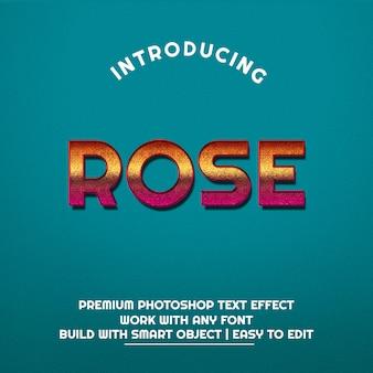 3d rose текстовый эффект премиум psd