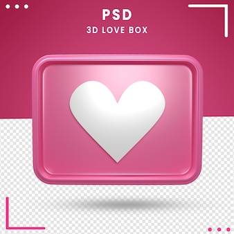 3d rotated logo of love box