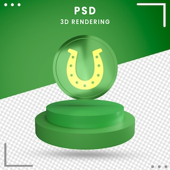 3d rotated st. patrick's day green isolated