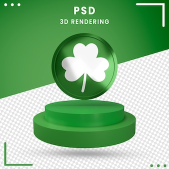 3d rotated st. patrick's day isolated