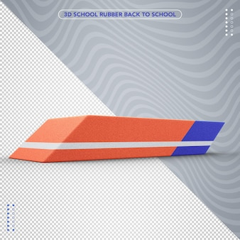 3d rubber back to school for composition