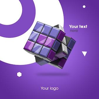 3d макет кубика рубика