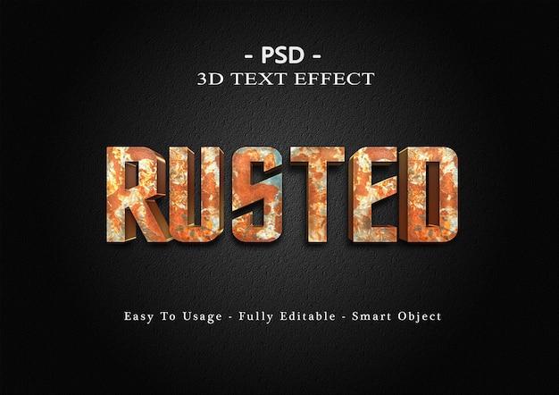 3d ржавый текстовый эффект