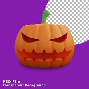 3d страшная тыква хэллоуин актив значок дизайн иллюстрация высокое качество