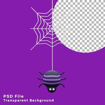 3d страшный паук хэллоуин актив значок дизайн иллюстрация высокое качество
