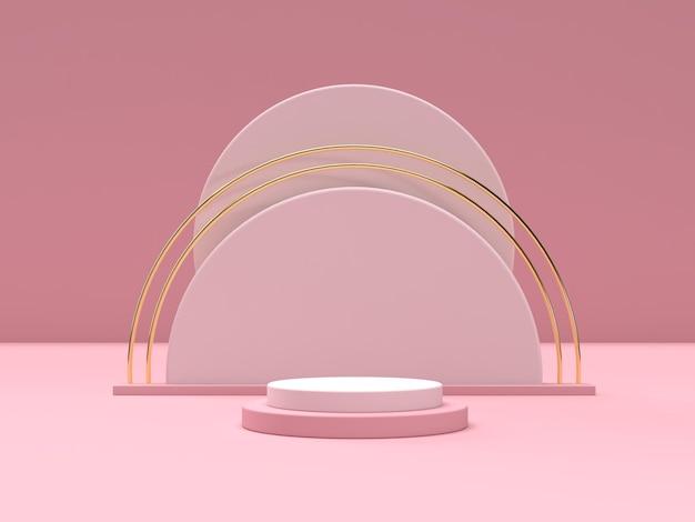 Дисплей подиума геометрической формы 3d-сцены