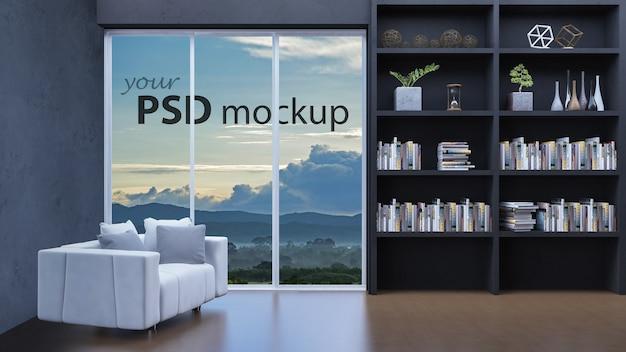 3d seaview living room