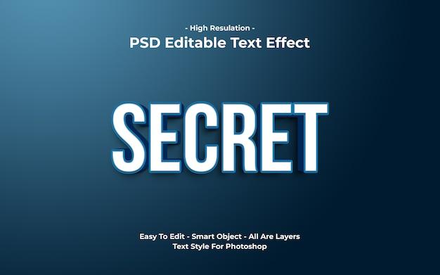 3d 비밀 텍스트 효과