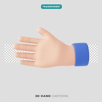 Значок жеста рукопожатия 3d