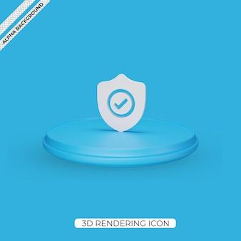Значок 3d визуализации щита изолирован