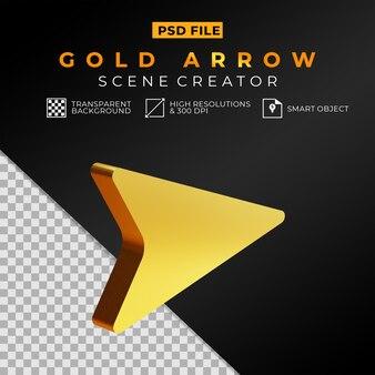 Создатель сцены с блестящей золотой стрелой 3d модель