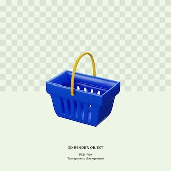 Значок объекта 3d иллюстрации сумки премиум psd