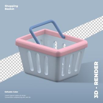 3d визуализация корзины покупок