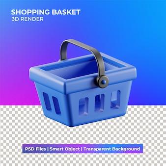 3d иллюстрации корзины покупок изолированные