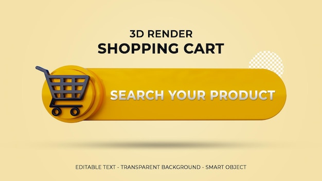 3d shopping cart bar
