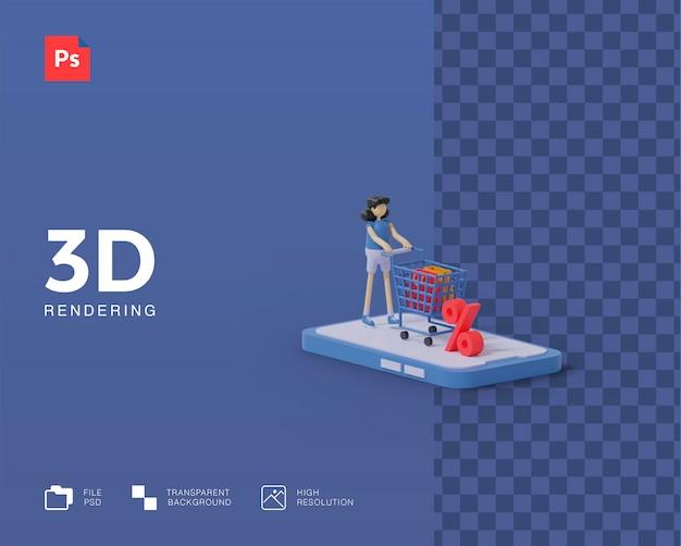 3d покупки онлайн иллюстрации