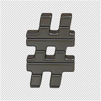 3d silver symbol from ingots