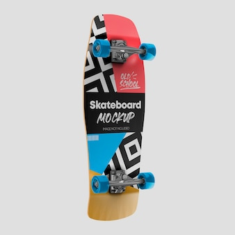3d дизайн макета старой школы скейтборда