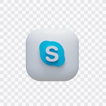 3d 스카이프 아이콘 프리미엄 PSD 파일