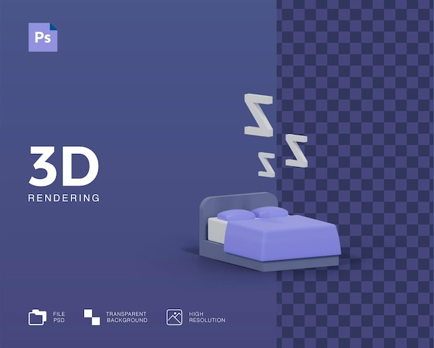 3d иллюстрации сна