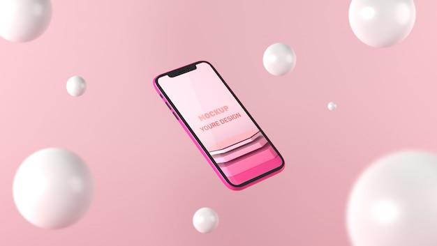 3dスマートフォンのモックアップ