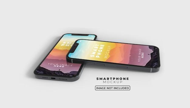 3d smartphone screen mobile mockup