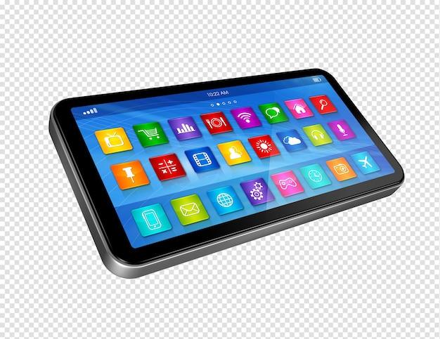 アプリアイコンインターフェースを備えた3dスマートフォン