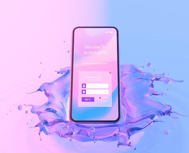 물 효과와 3d 스마트 폰