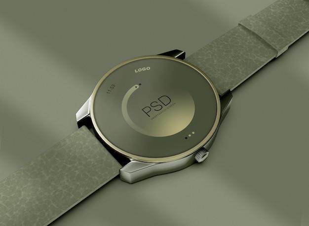 그림자와 함께 3d smartwatch 모형입니다. 기술 개념