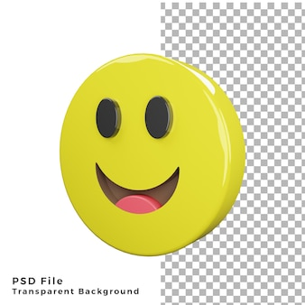 3d smile emoticon icon high quality render psd files