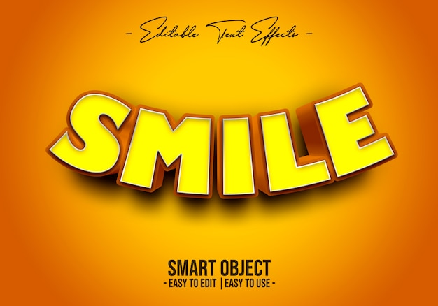 3d-smile-text-style-effect