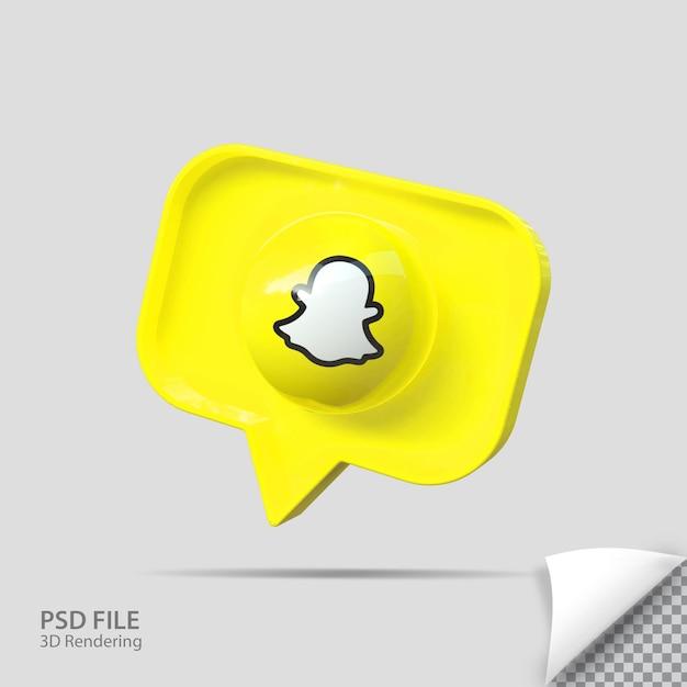Значок 3d snapchat визуализирует креатив