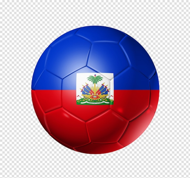 3d soccer ball with haiti team flag