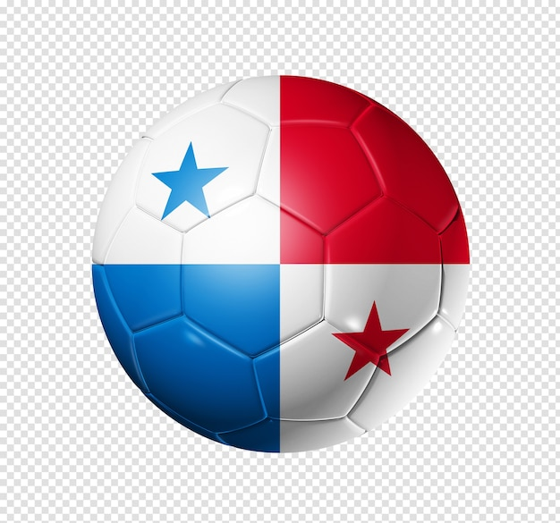 3d soccer ball with panama team flag