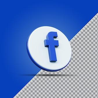 Значок facebook в социальных сетях 3d