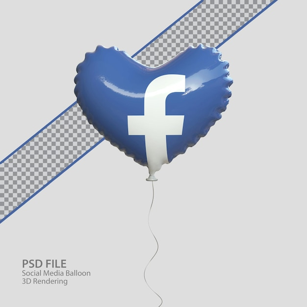 3d социальные сети facebook в стиле воздушного шара