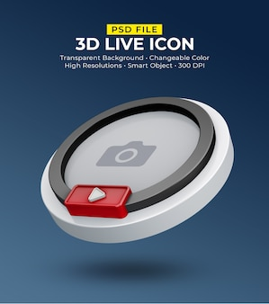 3d social media icon avatar live streaming