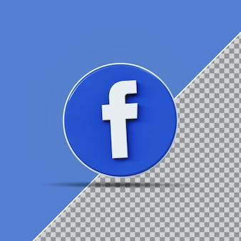 3d значок социальных сетей facebook