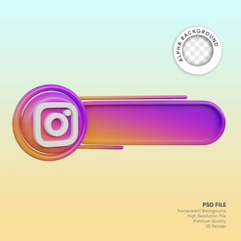 3d лейбл в социальных сетях instagram