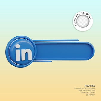 3d лейбл в социальных сетях linkedin