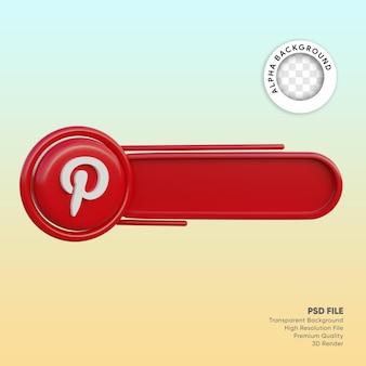 3d лейбл в социальных сетях pinterest